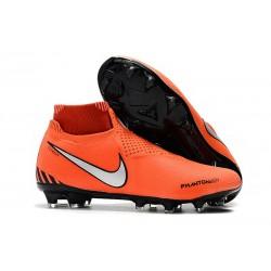 Crampons pour Hommes Nike Phantom VSN Elite DF FG Rouge Noir Blanc