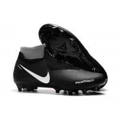 Crampons pour Hommes Nike Phantom VSN Elite DF FG Noir Rouge Blanc