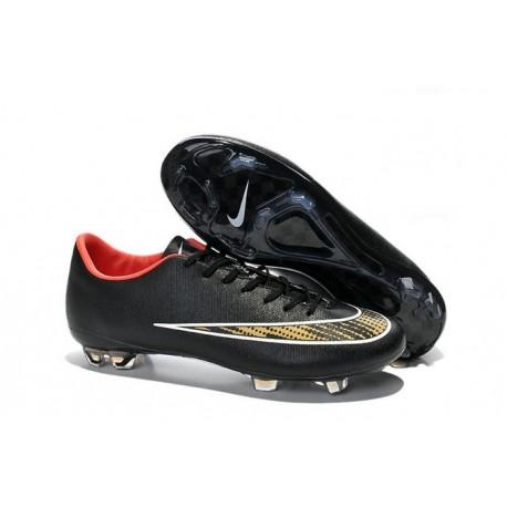 2014 Crampons de Foot Nike Mercurial Vapor X FG Homme Noir Jaune