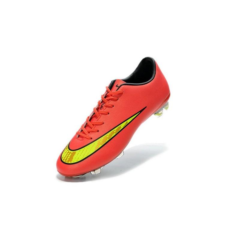 chaussure de foot nike mercurial rouge