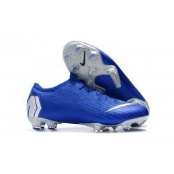 Chaussures de Football - Nike Mercurial Vapor XII Elite FG Noir Argent Bleu Racer