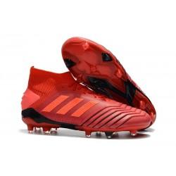 Nouvelles Chaussures Adidas Predator 19.1 FG Rouge Solaire Noir