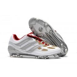 Nouveau Chaussures Adidas Predator Precision FG Gris Or Rouge