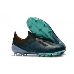 adidas X 18+ FG - Chaussures de Football Adidas Bleu Noir