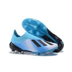 Neuf Crampons Foot - Adidas X 18+ FG - Bleu Noir