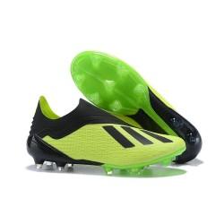 Neuf Crampons Foot - Adidas X 18+ FG - Vert Noir