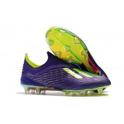 Neuf Crampons Foot - Adidas X 18+ FG - Violet Vert