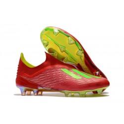 adidas X 18+ FG - Chaussures de Football Adidas Rouge Vert