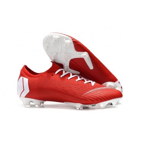 Chaussurs Football Nike Mercurial Vapor XII 360 Elite FG - Rouge Blanc-Rosso Bianc
