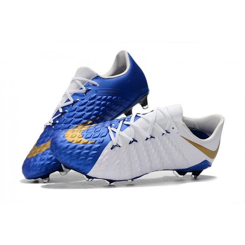 De Pas Cher Chaussure Fg Foot Bleu 3 Nike Hypervenom Or Blanc 54Ajq3RL