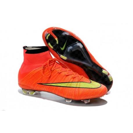 Coupe du Monde 2014 Chaussures Mercurial Superfly IV FG Nouvelle Rouge Jaune