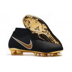 Nike Phantom Vision Elite DF FG Nouveaux Chaussures - Noir Or