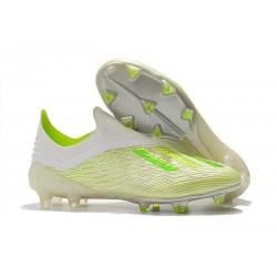 Neuf Crampons Foot - Adidas X 18+ FG - Blanc Vert
