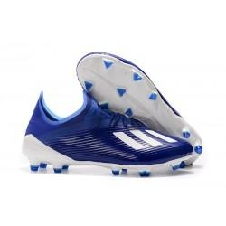 adidas X 19.1 FG Nouvelles Chaussure de Foot Bleu Blanc