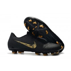 Chaussure Nike Phantom VNM Elite FG Noir Or