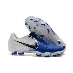 Chaussure Nike Phantom VNM Elite FG Bleu Noir Blanc
