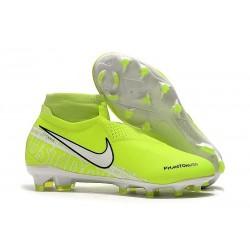 Nike Phantom Vision Elite DF FG Nouveaux Chaussures - Volt Blanc