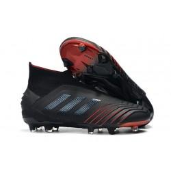 adidas Predator 19+ FG Nouvelles Chaussure Noir Rouge