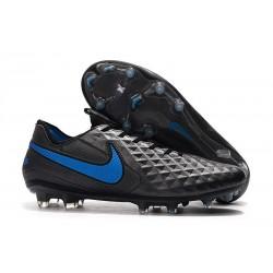 Nike Tiempo Legend VIII Elite FG Chaussures Noir Bleu