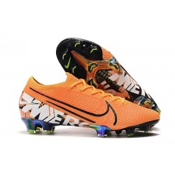 Nike Crampons Mercurial Vapor 13 Elite FG Orange Blanc