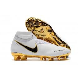 Crampons pour Hommes Nike Phantom VSN Elite DF FG Blanc Or