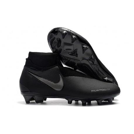 Crampons pour Hommes Nike Phantom VSN Elite DF FG Tout Noir
