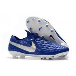 Nike Tiempo Legend VIII Elite FG Chaussures Bleu Blanc