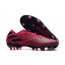 Chaussures de foot adidas Nemeziz 19.1 Fg Rose Noir