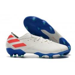 Chaussures de foot adidas Nemeziz 19.1 Fg Blanc Rouge Bleu