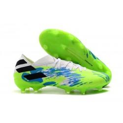 Chaussures de foot adidas Nemeziz 19.1 Fg Vert Bleu Blanc