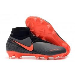 Nike Phantom Vision Elite DF FG Nouveaux Chaussures - Noir Rouge