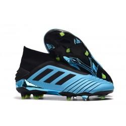 adidas Crampon de Foot Predator 19+ FG Bleu Noir