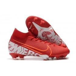 Nike Crampons Mercurial Superfly VII Elite FG Rouge Blanc