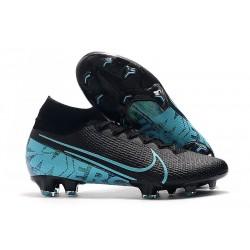 Nike Crampons Mercurial Superfly VII Elite FG Noir Bleu