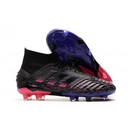 adidas Predator 19+ FG Chaussure Football Noir Bleu Rose