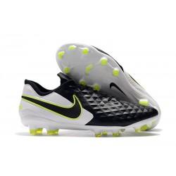 Nike Tiempo Legend VIII Elite FG Chaussures Noir Blanc Volt