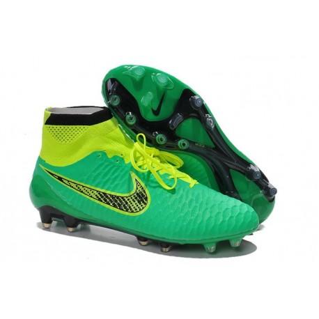 Coupe du Monde 2014 Chaussures Mercurial Magista Obra FG Vert Jaune Noir