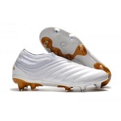 Nouvelles Crampons De Football Adidas Copa 19+ FG Blanc Or