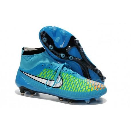 Nouvelle Homme Cramspon de Foot Nike Magista Obra FG Bleu Vert Rouge Blanc