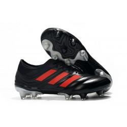 Chaussures de Football pour Hommes Adidas Copa 19.1 FG Nero Rouge