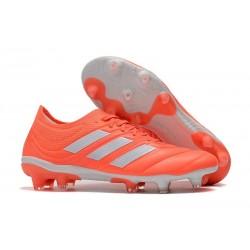 Chaussures de Football pour Hommes Adidas Copa 19.1 FG Rouge Blanc
