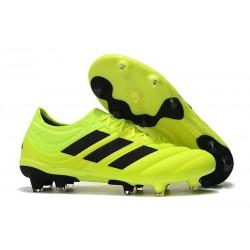 Chaussures de Football pour Hommes Adidas Copa 19.1 FG Volt Noir
