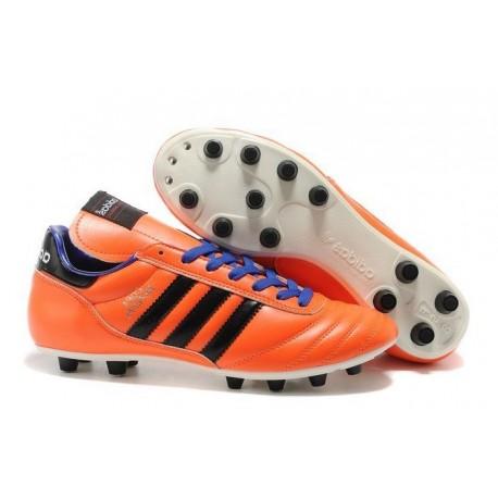 Crampon Foot - adidas Copa Mundial -Terrain Souple - Chaussure Homme Orange Noir