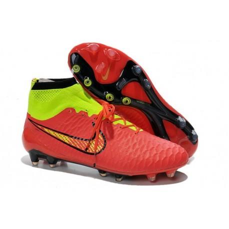 Coupe du Monde 2014 Chaussures Mercurial Magista Obra FG Rouge Jaune
