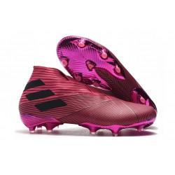 Adidas Nemeziz 19+ FG Crampons Nouvelles - Rose Noir