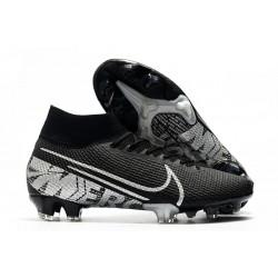 Chaussure Foot Nike Mercurial Superfly 7 Elite FG Noir Gris Métallique