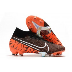 Chaussure Foot Nike Mercurial Superfly 7 Elite FG Noir Blanc Cramoisi