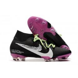 Chaussure Foot Nike Mercurial Superfly 7 Elite FG Noir Blanc Violet