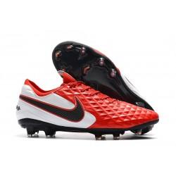 Nike Tiempo Legend VIII Elite FG Chaussures Rouge Blanc Noir