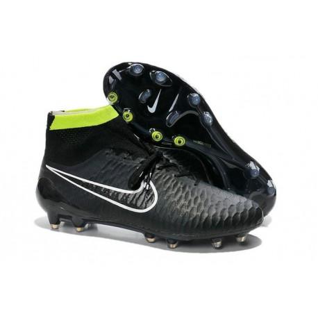 Coupe du Monde 2014 Chaussures Mercurial Magista Obra FG Noir Vert Blanc